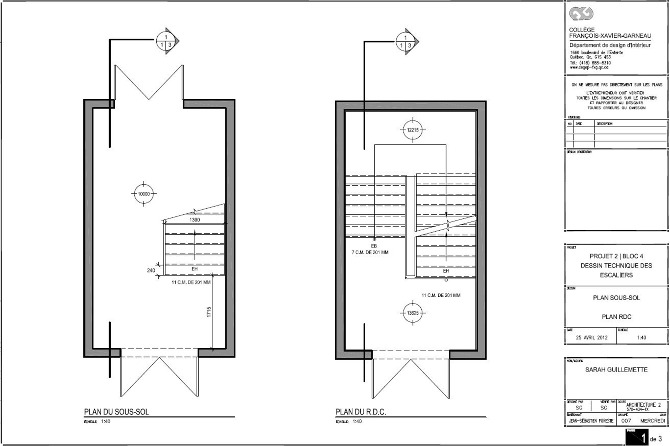 les escaliers du cegep garneau sarah g design. Black Bedroom Furniture Sets. Home Design Ideas