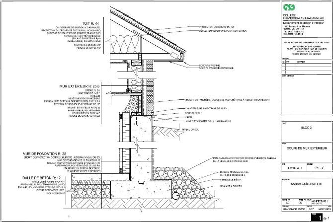 coupe mur ext rieur sarah g design. Black Bedroom Furniture Sets. Home Design Ideas